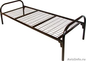 кровати одноярусные для пансионатов, кровати металлические двухъярусные оптом - Изображение #5, Объявление #701264