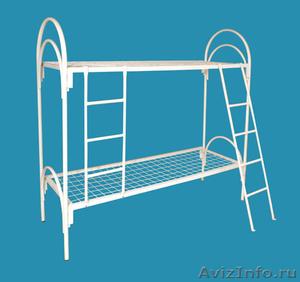 кровати одноярусные для пансионатов, кровати металлические двухъярусные оптом - Изображение #3, Объявление #701264