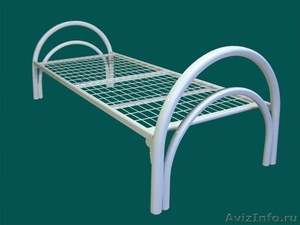 кровати одноярусные для пансионатов, кровати металлические двухъярусные оптом - Изображение #6, Объявление #701264