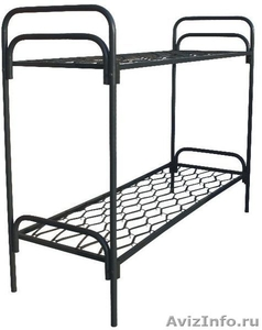 кровати металлические кровати двухъярусные для строителей, кровати для санатория - Изображение #5, Объявление #899152