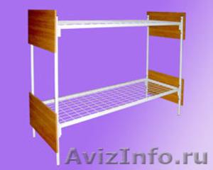 кровати металлические кровати двухъярусные для строителей, кровати для санатория - Изображение #3, Объявление #899152