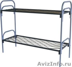 Кровати одноярусные для бытовок, кровати металлические для казарм, дёшево - Изображение #1, Объявление #1478866