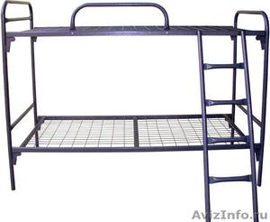 Кровати одноярусные для бытовок, кровати металлические для казарм, дёшево - Изображение #3, Объявление #1478866