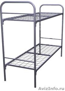 Кровати трёхъярусные для времянок, кровати металлические двухъярусные дёшево - Изображение #4, Объявление #1479841