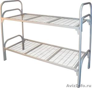 Кровати трёхъярусные для времянок, кровати металлические двухъярусные дёшево - Изображение #5, Объявление #1479841