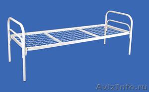 Кровати одноярусные для бытовок, кровати металлические для казарм, дёшево - Изображение #5, Объявление #1478866