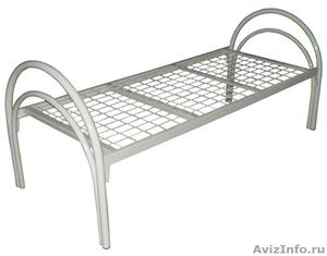 Кровати одноярусные для бытовок, кровати металлические для казарм, дёшево - Изображение #7, Объявление #1478866