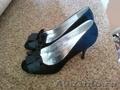 Туфли новые,  цвет черный,  размер 38,  нубук.