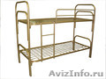 кровати одноярусные для пансионатов, кровати металлические двухъярусные оптом - Изображение #2, Объявление #701264